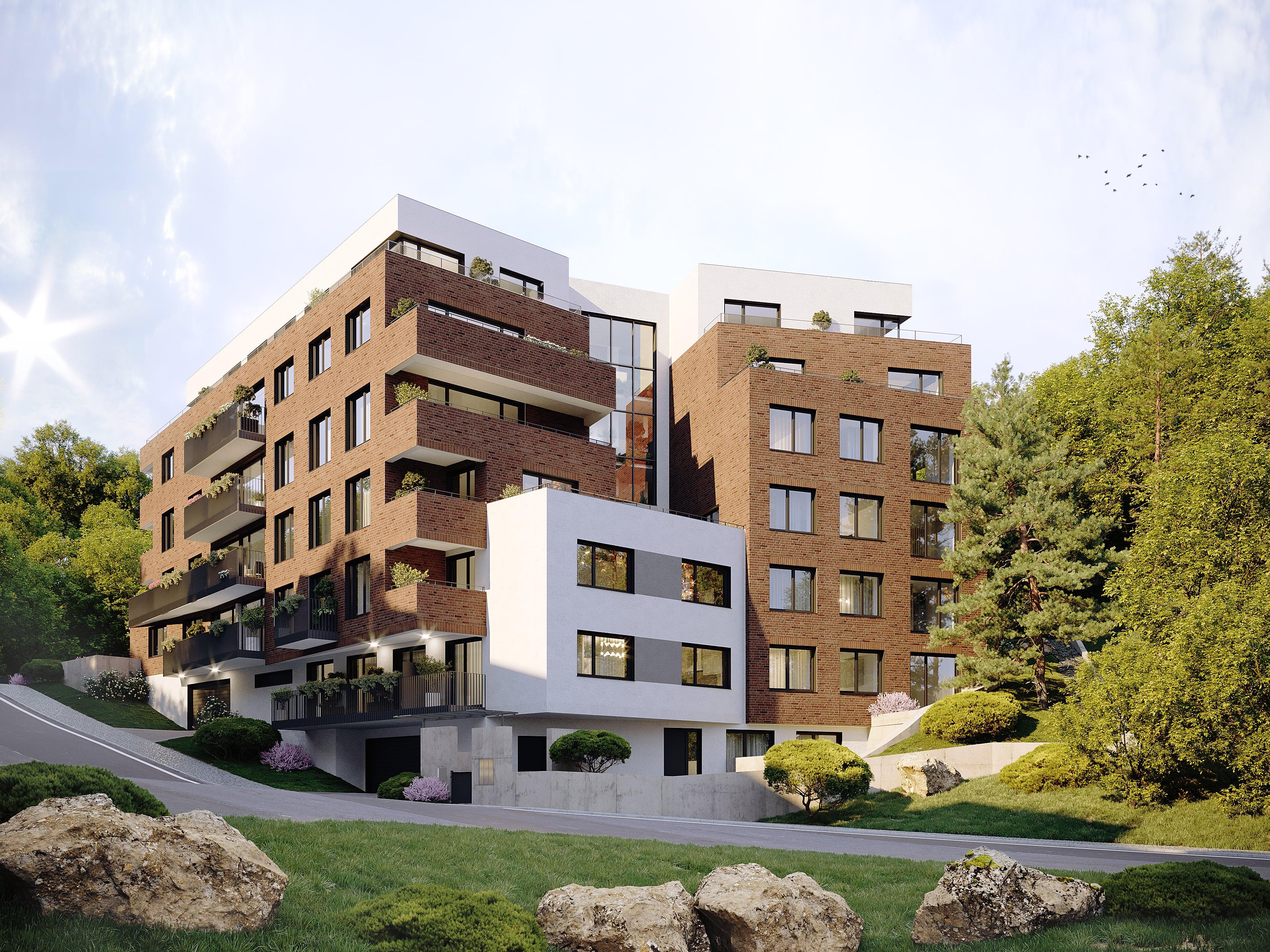 Exkluzivní byty na Praze 5. Bytový dům Pod Bertramkou nedaleko Anděla. Developer GARTAL
