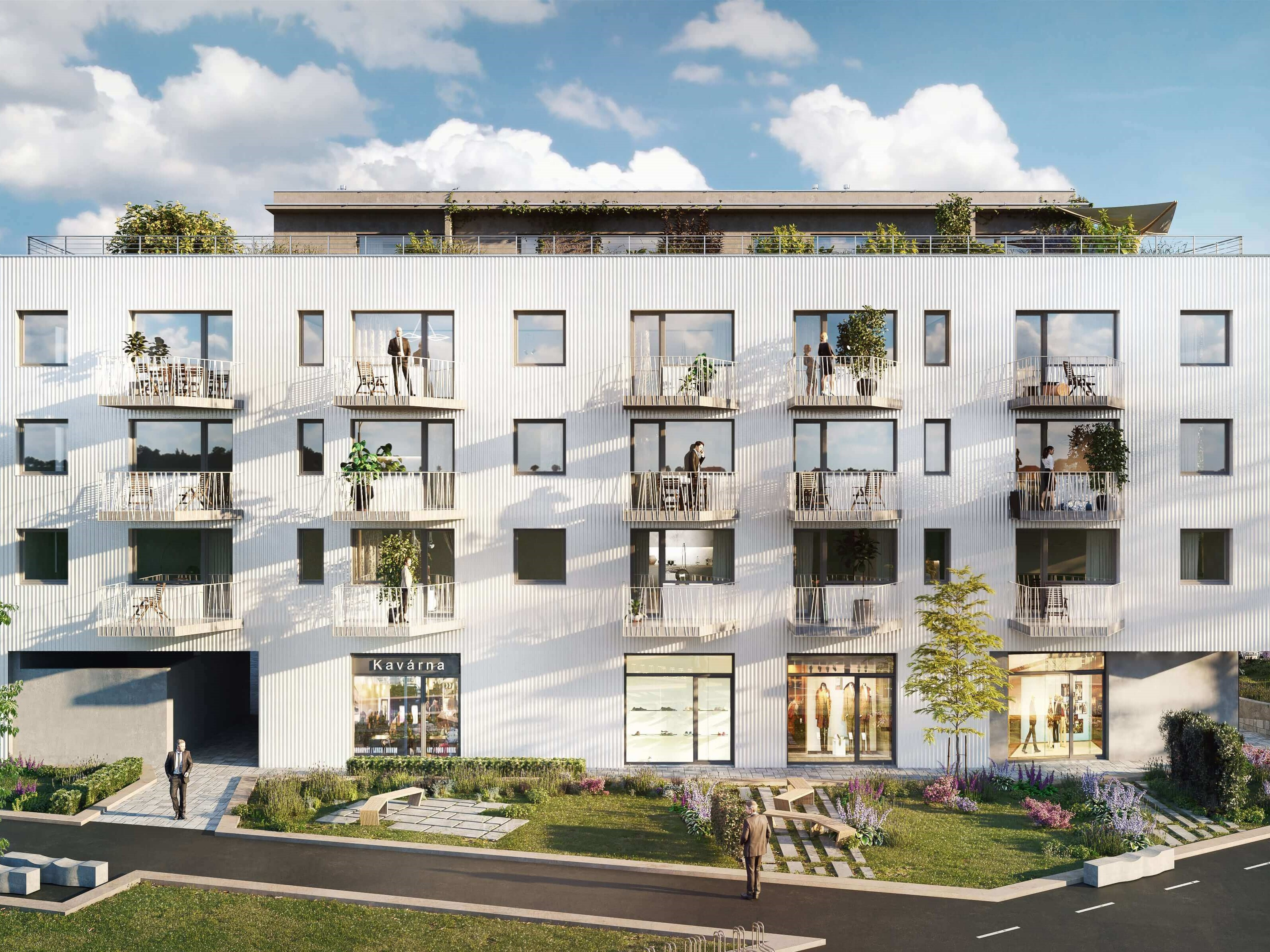 Nové byty v Hloubětíně. Developerský projekt Rezidence Hloubětín u metra. Developer GARTAL