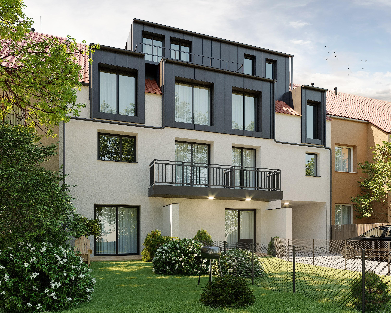 Útulné nové byty u stanice metra Hloubětín. Developerský projekt Viladům Hloubětín Praha 9 - Hloubětín. Developer GARTAL