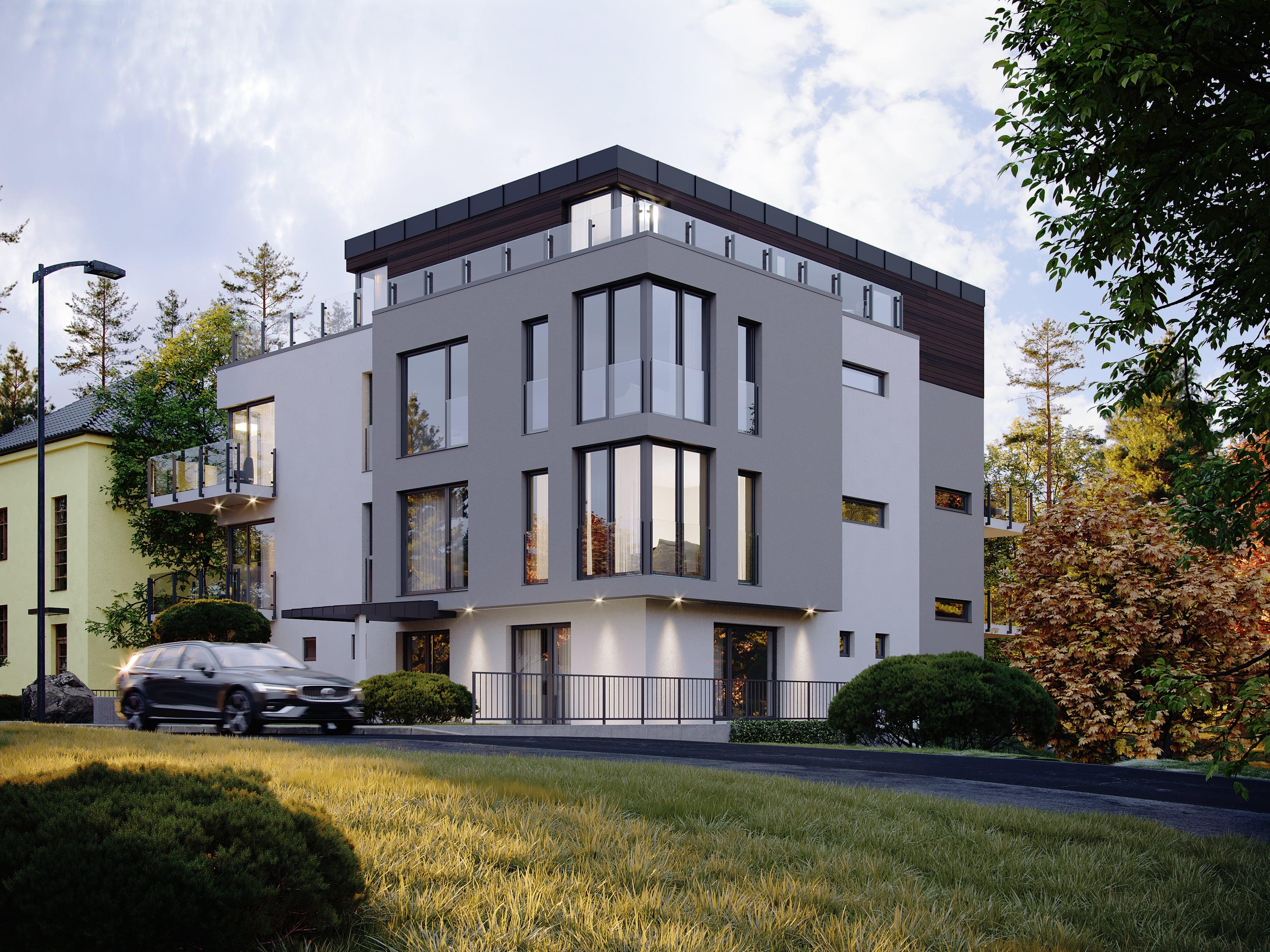 Luxusní byty u Rokytky. Bytový dům Riviéra Rokytka Praha 9 - Kyje. Developer GARTAL